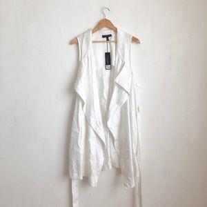 Lane Bryant white cardigan duster top linen-18/20